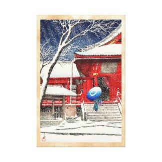 Kawase Hasui Snow at Ueno Kiyomizudo hanga art Gallery Wrap Canvas