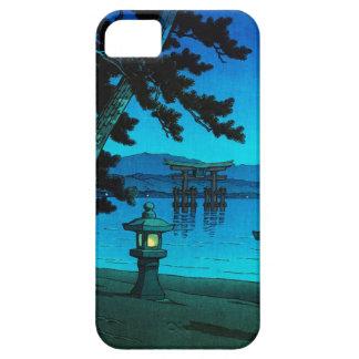Kawase iluminado por la luna japonés fresco del ha iPhone 5 funda