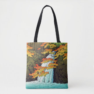 Kawase Senju Waterfall art japanese art Tote Bag