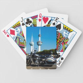 Kawazaki Nomad at Kuwait Towers Bicycle Playing Cards