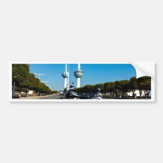 Kawazaki Nomad at Kuwait Towers Bumper Sticker