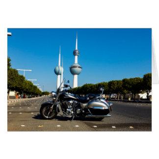 Kawazaki Nomad at Kuwait Towers Card