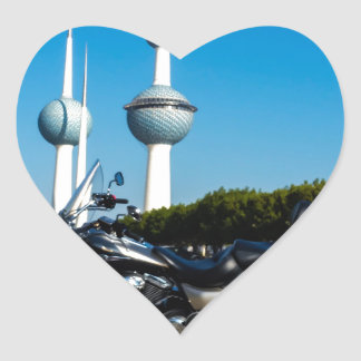 Kawazaki Nomad at Kuwait Towers Heart Sticker