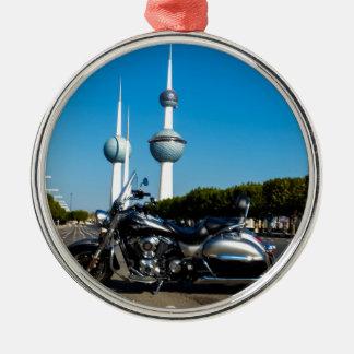Kawazaki Nomad at Kuwait Towers Metal Ornament