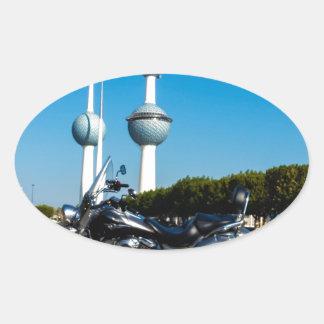 Kawazaki Nomad at Kuwait Towers Oval Sticker