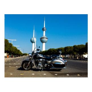 Kawazaki Nomad at Kuwait Towers Postcard