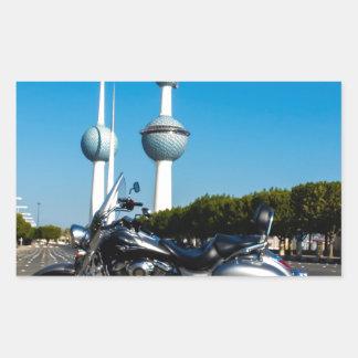 Kawazaki Nomad at Kuwait Towers Rectangular Sticker