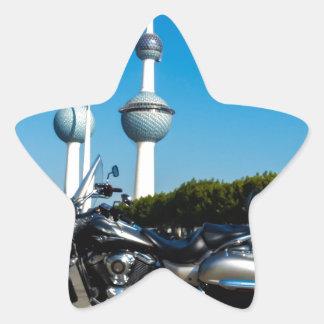 Kawazaki Nomad at Kuwait Towers Star Sticker