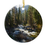 Kaweah River in Sequoia National Park Ceramic Ornament