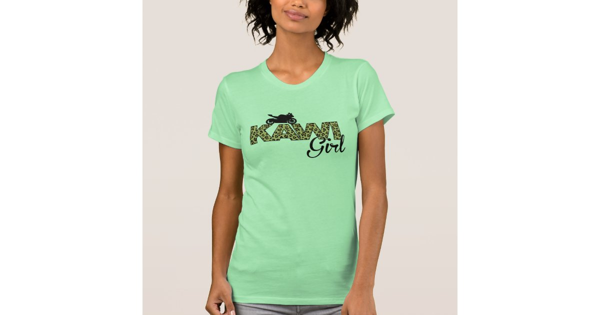 Kawi girl leopard print t shirt zazzle for Vista print tee shirt