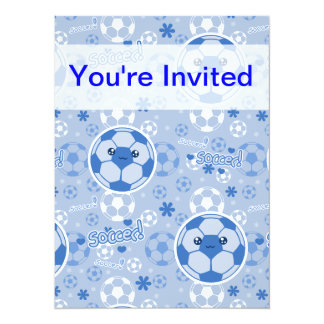 Kawii Soccer Ball Blue Pattern Card