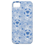 Kawii Soccer Ball Blue Pattern iPhone 5/5S Covers