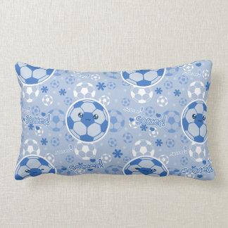 Kawii Soccer Ball Blue Pattern Pillows