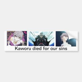 Kaworu murió por nuestros pecados pegatina de parachoque
