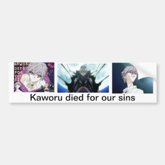 Kaworu murió por nuestros pecados pegatina para auto