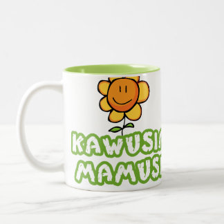 Kawusia Mamusi - Mom's Coffee Two-Tone Coffee Mug