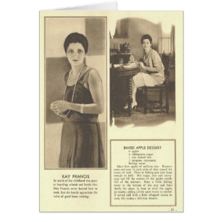 Kay Francis Baked Apple Dessert Greeting Card