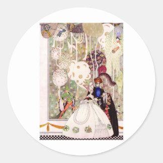 Kay Nielsen's Bluebeard Fairy Tale Classic Round Sticker
