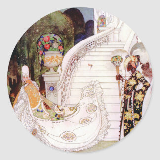 Kay Nielsen's Cinderella Fairy Tale Classic Round Sticker