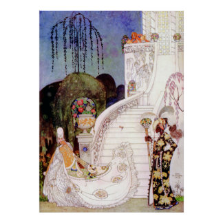 Kay Nielsen's Cinderella Leaving the Ball Print