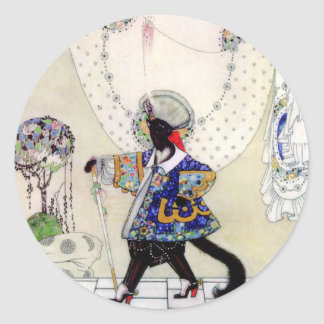 Kay Nielsen's Fairy Tale Puss In Boots Classic Round Sticker