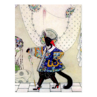 Kay Nielsen's Fairy Tale Puss In Boots Postcard