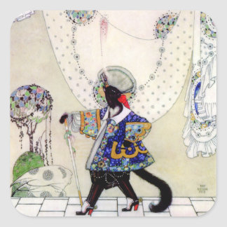 Kay Nielsen's Fairy Tale Puss In Boots Square Sticker