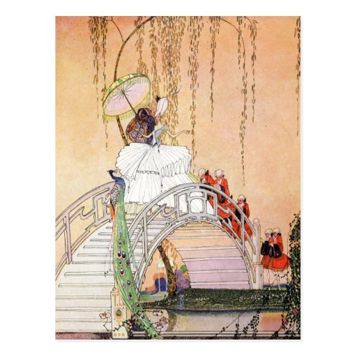 Kay Nielsen's Night In A Chinese Garden Post Card