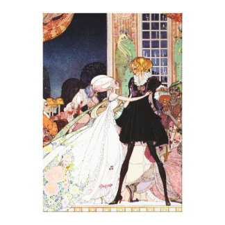 Kay Nielsen's Prince Charming and Cinderella Canvas Print