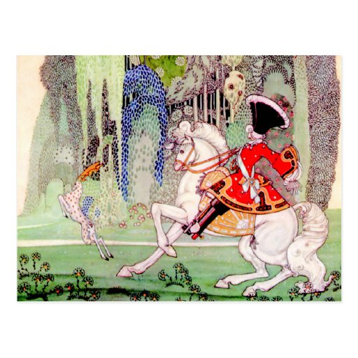Kay Nielsen's Prince Charming from Sleeping Beauty Post Card
