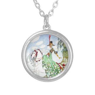 Kay Nielsen's Princess Minotte Fairy Tale Round Pendant Necklace