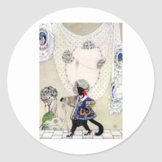Kay Nielsen's Puss In Boots Classic Round Sticker