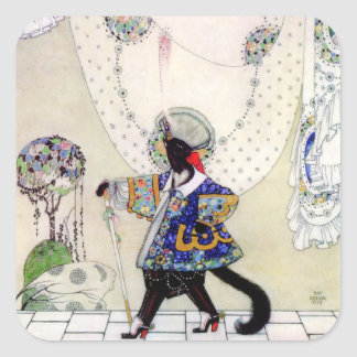 Kay Nielsen's Puss In Boots Square Sticker