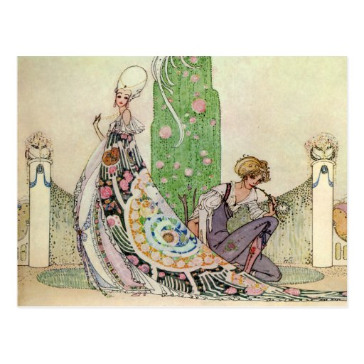 Kay Nielsen's The Princess and the Gardener Post Cards