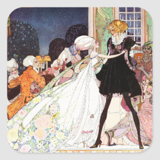 Kay Nielsen's Twelve Dancing Princesses Square Sticker