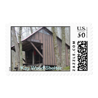 Kay Wood Shelter Appalachian Trail Postage Stamp