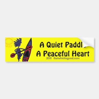 Kayak A Quiet Paddle Waves Bumper Stickers