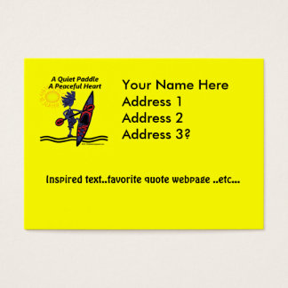 Kayak A Quiet Paddle Waves Business Card
