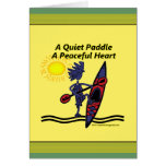 Kayak A Quiet Paddle Waves Card