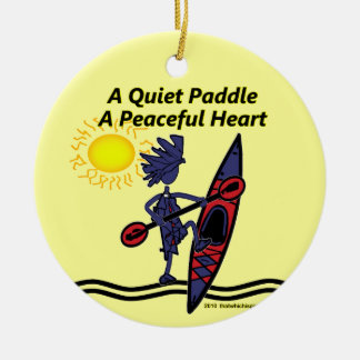 Kayak A Quiet Paddle Waves Christmas Ornaments