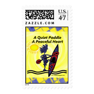 Kayak A Quiet Paddle Waves Postage