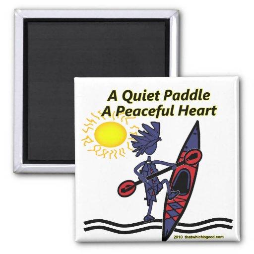 Kayak A Quiet Paddle Waves Refrigerator Magnet