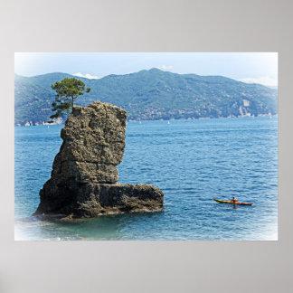 Kayak Adventures - Santa Margherita Ligure, Italy Poster