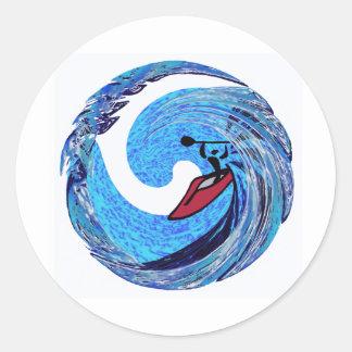 Kayak Ageless Time Classic Round Sticker