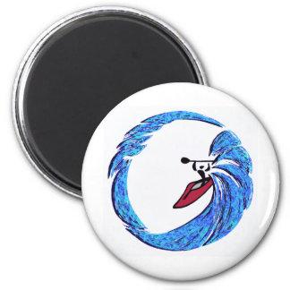 Kayak Always mind 2 Inch Round Magnet