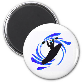 Kayak Any Elements 2 Inch Round Magnet