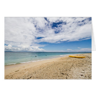 Kayak at South Sea Island, Fiji Card