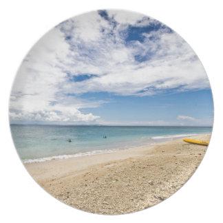 Kayak at South Sea Island, Fiji Melamine Plate