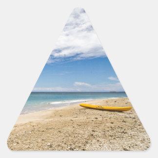 Kayak at South Sea Island, Fiji Triangle Sticker