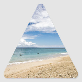 Kayak at South Sea Island, Fiji Triangle Stickers